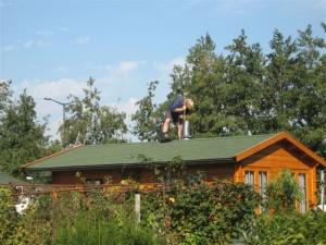 Kor op dak